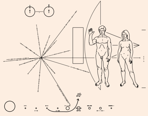 Naked man and woman the pioneer plaque 1972 nasa